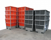 steel framed plastic Bins - 1000L - 1150L hides skins bi products,